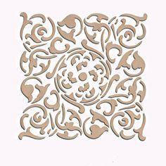 Create a fabric designor a kitchen backsplashwith our VeronaTile Craft Stencil. Stencil this pattern as a single wall art motif, create a faux tile effect, o