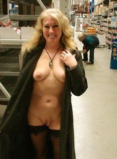 In Women flashing public naked