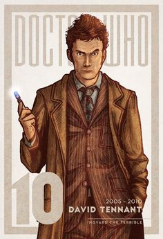 Doctor Who #10 | Ingvard the Terrible | www.ingvardtheterrible.com #DoctorWho #DavidTennant #Whovian #BBC #Illustration #FanArt #SciFi #ScienceFiction #TimeLord #TARDIS