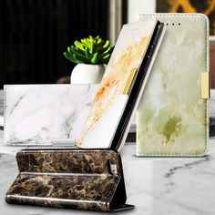 for Xiaomi Redmi Note3 Phone Cover Marble Texture Leather Wallet Phone Case for Xiaomi Redmi Note 3 / Note 3 Pro - Black