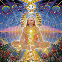 Alex Grey – Meditation - Alex Grey is a Psychedelic art representative, connected with the New Age movement and spiritual art. Alex Grey Paintings, Oil Paintings, Alex Gray Art, Psy Art, Les Religions, Visionary Art, Sacred Art, Psychedelic Art, Surreal Art