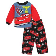 d4a20d562 Disney Cars Lightning McQueen Infant Boys 2 Piece Pajama Set Color Red  Sizes 12 Months 18