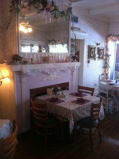 Lavender and Lace Tea Room in Lake  Alfred Fl.  After a wonderful meal, there  is an antique barn near by that is opened seasonally, check availability. The Tea room is worth the trip no matter when you are in Florida.