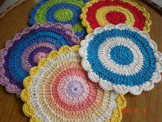 Descanso de panela feito em crochet com linha 100% algodão