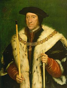 Thomas Howard, third Duke of Norfolk (1473-1554) by Hans Holbein the Younger:  Uncle of both Anne Boleyn and Catherine Howard