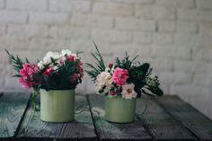 Centro de flores diy en una taza : via La Chimenea de las Hadas