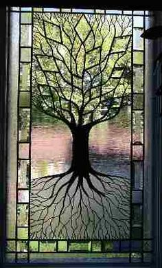 Tree of life stained glass window.This is beautiful. Tree of life, one of my faves. Wish I did stained glass. Stained Glass Designs, Stained Glass Panels, Stained Glass Projects, Stained Glass Patterns, Leaded Glass, Stained Glass Art, Mosaic Glass, Beveled Glass, Celtic Stained Glass