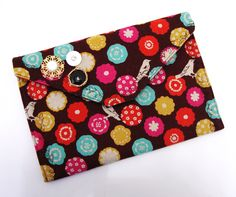 Modern Bird- Envelope Style Clutch. $13.00, via Etsy.