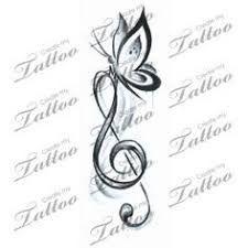 Resultado de imagem para music and butterfly tattoo