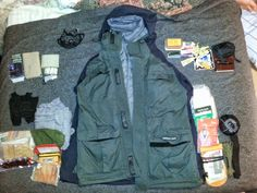 Every Day Carry Bag Dump Contest: M.'s Jacket of Holding Survival Clothing, Survival Blog, Survival Tools, Survival Stuff, Bug Out Kit, Get Home Bag, Edc Bag, 72 Hour Kits, Doomsday Prepping