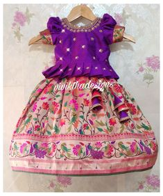 Mom And Baby Dresses, Kids Party Wear Dresses, Kids Dress Wear, Kids Gown, Dresses Kids Girl, Party Dress, Baby Girl Lehenga, Kids Lehenga, Girls Frock Design