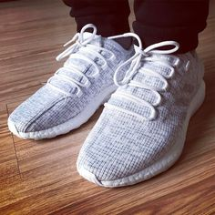 White Pure Boost 2017 on Feet