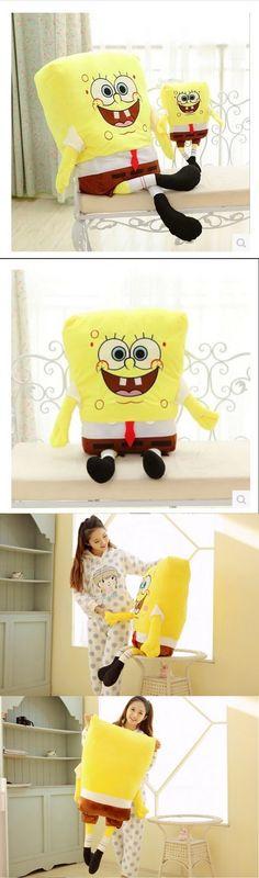 Hot! 1pcs 40cm Sponge Bob Baby Toy Spongebob And Patrick Plush Toy Soft Anime Cosplay Doll For Kids Toys Cartoon Figure Cushion