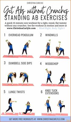 6 Standing Ab Exercises for Flat, Toned . - 6 Standing Ab Exercises for Flat, Toned Abs, Core Strength, & Maximum Calorie Burn 6 of the best - Fitness Workouts, Fitness Motivation, Fitness Abs, Fitness Logo, Mens Fitness, Fitness Style, Workout Meals, Fitness Memes, Core Workouts
