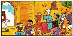 Les 10 lépreux (visuels) - Levangelisation (section Enfants)