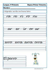Ejercicios de caligrafía para niños - Cómo mejorar la letra