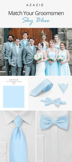 Matching your wedding party is a breeze with our colors to choose from! Shop our handsome groomsmen accessories from ties, bowties, and pocket squares for a one stop shop! Wedding Dresses With Straps, Lace Mermaid Wedding Dress, Wedding Party Dresses, Country Groomsmen, Blue Groomsmen, Red Bouquet Wedding, Blue Wedding, Blue Country Weddings, Wedding Country
