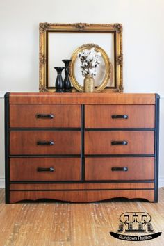 Two-Tone Waterfall Dresser After