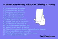 15 Mistakes You're Probably Making With Technology In Learning