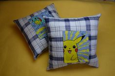 Pikachu yellow Pokemon tooth fairy pillow or one green