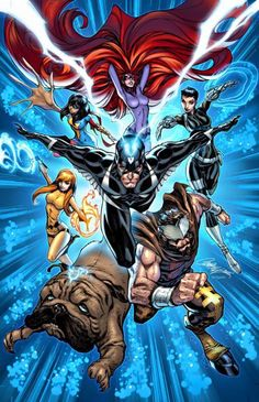 J Scott Campbell has this cover for the upcoming All-New Inhumans. But how does it all go together?  He tells us I draw my layouts veeerrrryyy tiny