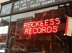 Oh - Andrew!!!!!   :) Reckless Records Sign - Wicker Park