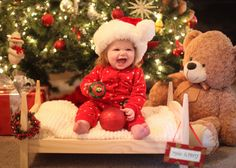 First Christmas, baby Christmas photos
