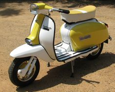 Yellow Lambretta