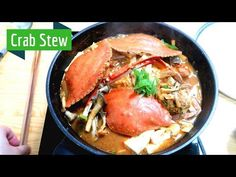 Welcome to the crab season! We bought some fresh crab and made spicy crab stew Loved it from inside out! Crab Recipes, Asian Recipes, Ethnic Recipes, Korean Crab Recipe, Crab Soup, Best Food Ever, Korean Food, Tofu
