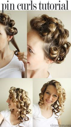 Simple pin curls tutorial. So cute and easy to DIY.