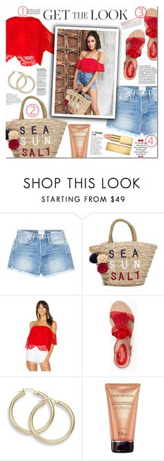 """""""Olivia Culpo"""" by mery90 ❤ liked on Polyvore featuring Frame, Sundry, VAVA by Joy Han, Kate Spade, Christian Dior, AERIN, GetTheLook and CelebrityStyle"""