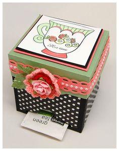 The cutest little box to make!  Very Englebreit!