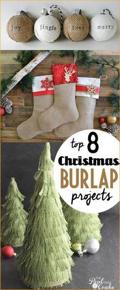 8 Christmas Burlap C