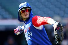 Josh Donaldson Photos Photos - Josh Donaldson #20 of the Toronto Blue Jays warms up during batting practice prior to game two of the American League Championship Series against the Cleveland Indians at Progressive Field on October 15, 2016 in Cleveland, Ohio. - ALCS - Toronto Blue Jays v Cleveland Indians - Game Two
