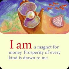 "Today's Power Thought: ""I am a magnet for money. Prosperity of every kind is drawn to me."" (From Hay House's I Can Do It: Affirmations for Wealth cards.) The unusual thing about today's card is that when I shuffled the cards, this card came up. I thought, ""It seems I recently pulled this card. Let me shuffle again and see if I get a fresh message."" I shuffled for a total of 3 times and each time this card came up. The universe REALLY wants you to affirm that you are a magnet for #money…"