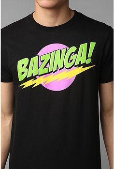 hahahah bazinga!!! Everyone loves Sheldon! Big Bang Theory #tee #humor