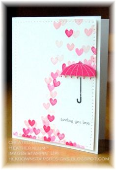 ~ CREATE A CARD ~raining love CARD DESIGN