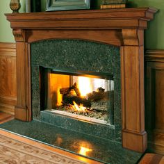 Have to have it. Pearl Mantels Blue Ridge Arched Fireplace Surround - $529.98 @hayneedle.com