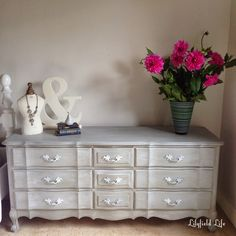 Lilyfield Life: Weathered Wash Finish French Chest of Drawers