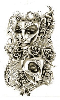 two face tattoo designs