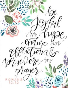 Romans 12:12 Print by flaxandwooldesigns on Etsy