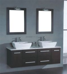 "Bathroom Double Sink Vanity Units 72"" oasis double vessel sink vanity | oasis, espresso and sinks"