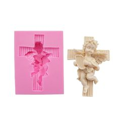 Yatim Organ Cross Angel Big 3D Silicone DIY Baking Mold for Homemade Soap, Cake, Cupcake, Bread, Muffin, Pudding, Jello, Bread, Cheesecake, Cornbread, Biscuit ** Don't get left behind, see this great  product : home diy kitchen