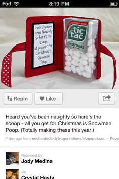 Haha great for stockings