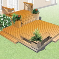 Patio Stairs, Patio Railing, Backyard Fireplace, Patio Gazebo, Backyard Pool Designs, Backyard Patio Designs, Backyard Landscaping, Small Backyard Decks, Backyard Plan