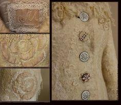 """Верхняя одежда ручной работы. Ярмарка Мастеров - ручная работа Зимнее пальто """"Дикая нежность"""". Handmade."""