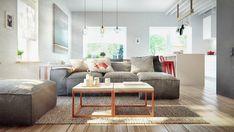 Embora o espaço certamente enfatiza o funcional, não é tão esparso como algumas casas minimalista.  Em vez disso, há espaço para aqueles elementos puramente decorativos, como obras de arte coloridas e plantas potted vibrante.