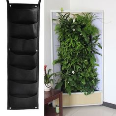 4/7/9/12/18 Pockets Planting Bags Garden Vertical Hanging Wall Seedling Planter Growing Bags