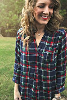 Stitch Fix by Linens and Leggings! Market & Spruce Colibri Plaid Printed Shirt