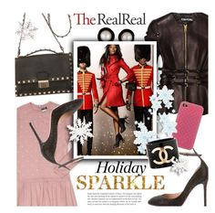 """Holiday Sparkle With The RealReal: Contest Entry"" by houseofhauteness ❤ liked on Polyvore featuring Valentino, Chanel, Tom Ford, Mikimoto, Burberry and Gucci"